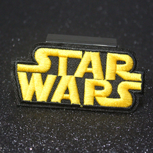 Pulaqi Letter Star Wars Patch Iron-on Clothing Embroidered Patches For Punk On Clothe Tactical Applique Stripes