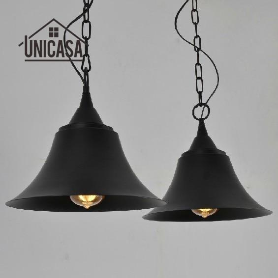все цены на Antique Wrought Iron Pendant Lights Vintage Black Metal Lighting Fixtures Mini Kitchen Island Bedroom LED Modern Ceiling Lamp онлайн