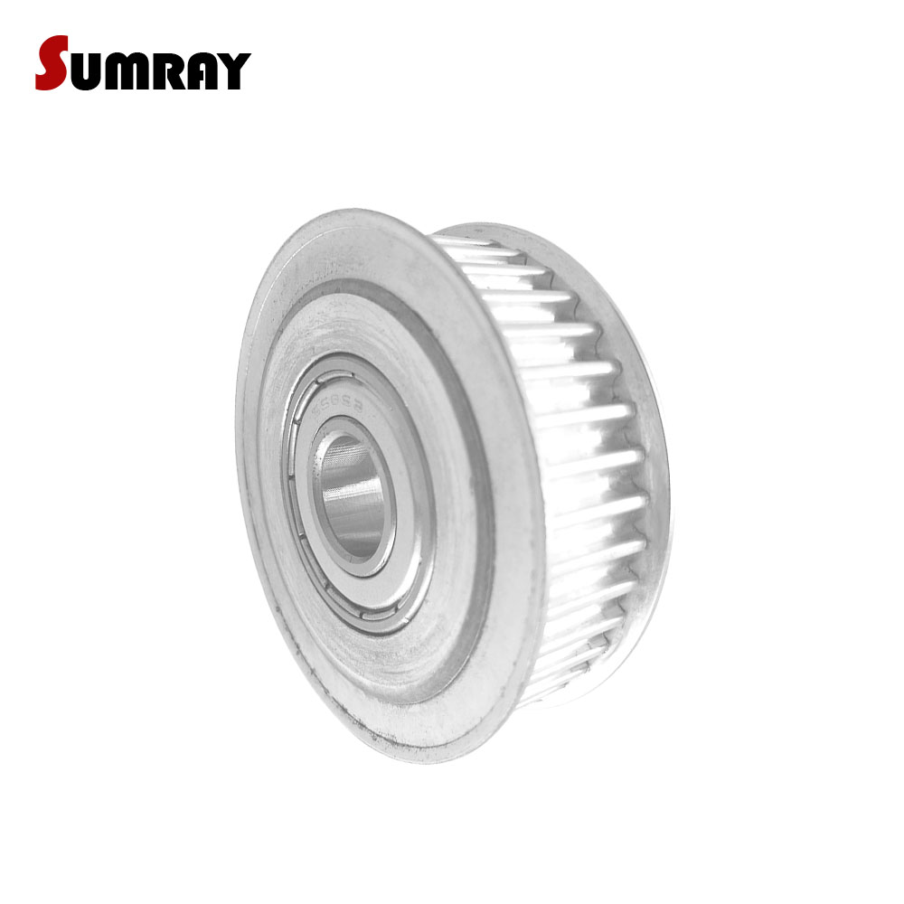 цена на SUMRAY GT2 Timing Belt Pulley 48T Idler Timing Pulley Bore 4/5/6/8/10mm Aluminium Pulley Fit 6/10mm Belt Width GT2 Timing Belt