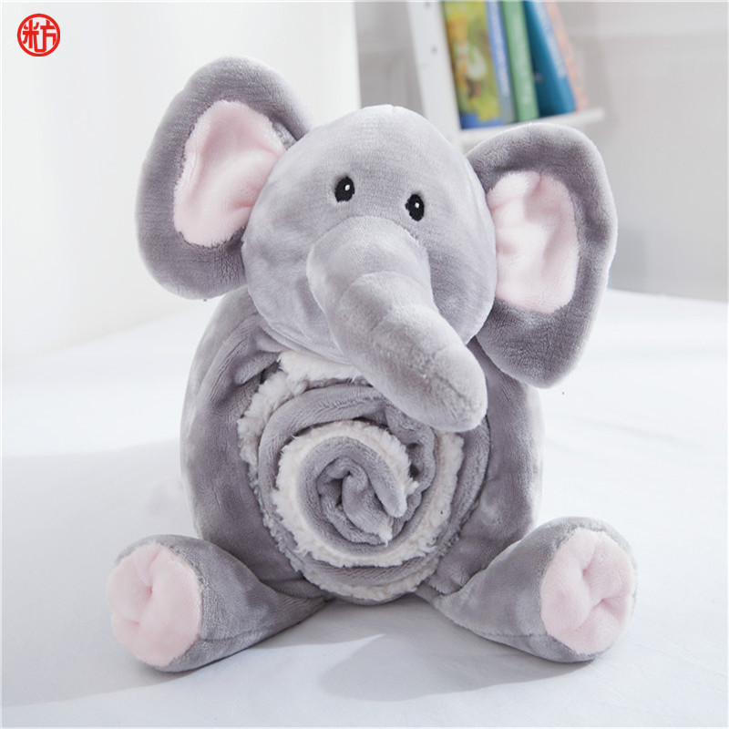 2pcs/set cartoon gray elephant pillow blankets zebra flannel blanket throw pillows cushion For Children bed home travel gift free shipping h letter blanket brand designer home blankets wool cashmere car travel portable blankets throw bed 158x138cm size