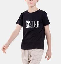 2017 супермен бренд майка дети ЗВЕЗДА Лабораторий Мода Лето хип-хоп дети Футболки мма верхней ребенка девушка одежда homme мма