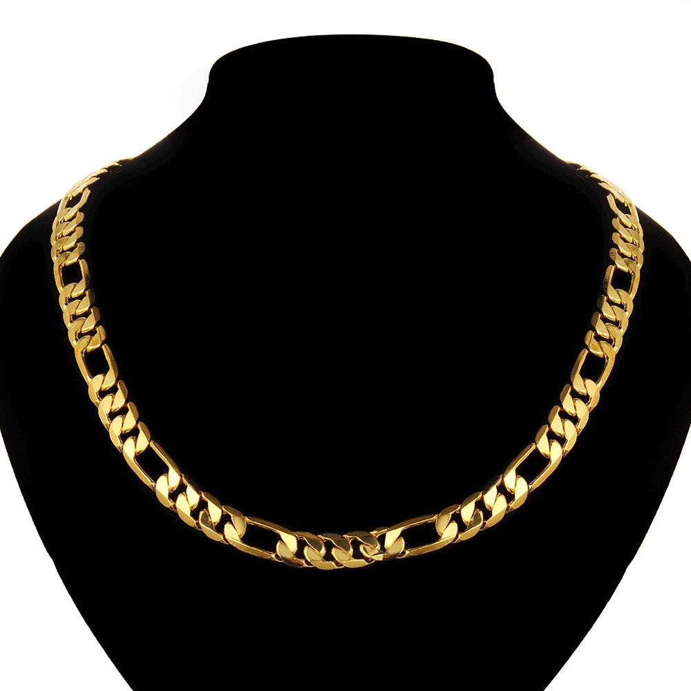 Africa Dubai Popular Gold Color Necklace Jewelry Chain Men