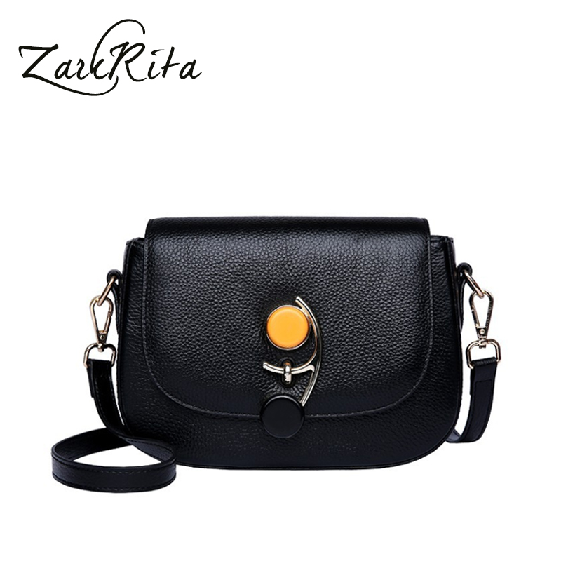 ZackRita Women High Quality Genuine Leather Fashion Flap Small Shoulder Bag Female Crossbody Bag Ladies Casual Clutch Bags B115 genuine leather women messenger bags rivet small flap shoulder bag crossbody bags designer brand ladies female clutch hand bags