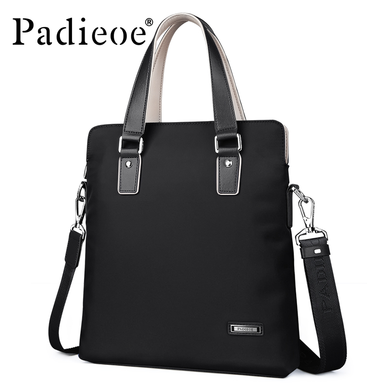 Padieoe Nylon Tote Briefcase For Male Messenger Bag Waterproof Documents Men's Shoulder Bag Casual Business Men Travel Handbag