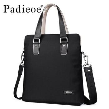 Padieoe Nylon Tote Briefcase for Male messenger bag Waterproof Documents Men's Shoulder Bag Casual Business Men Travel Handbag