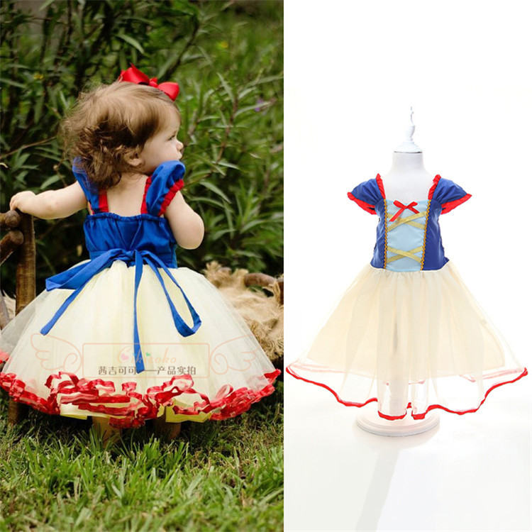 68e4524111c58 US $49.9 |2015 Summer baby girls Cartoon Snow White dresses New kids casual  tutu dress Children's fashion party dress girl princess wear-in Dresses ...