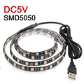 USB RGB LED Strip Waterproof IP65 SMD5050 LED Light Flexible DC5V 5050 DIY Decoration Lamps 50CM 1M 2M TV Background Lighting