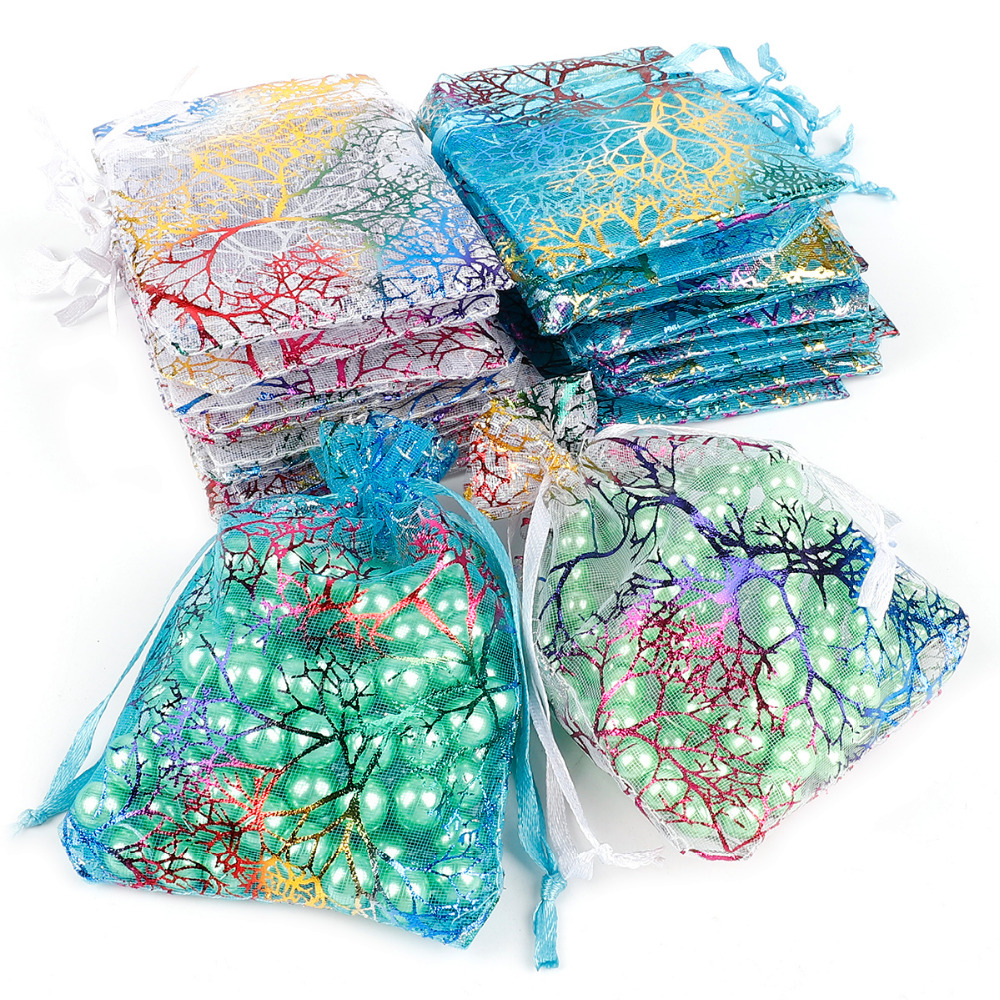 10pcs Wholesale 7x9/9x12/10x15/13x18cmDrawstring Organza Bags Jewelry Packaging Bags Wedding Gift Party Bags Jewelry Pouches
