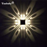 Tanbaby Modern 3W LED Wall Lamp Butteryfyl Model Aluminum Light Fixture Wall Mounted Indoor Applique Murale