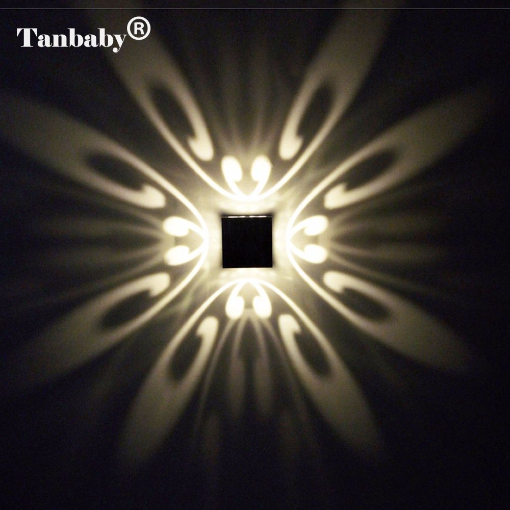 Tanbaby modern 3w led wall lamp butteryfyl model aluminum for Luminaire mural exterieur led