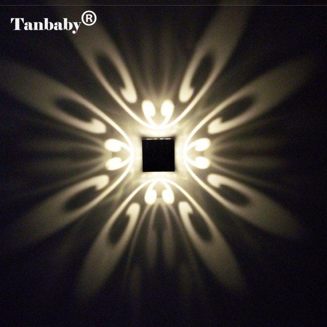 Tanbaby Moderne 3 W Mur Led Lampe Butteryfyl Modèle En Aluminium