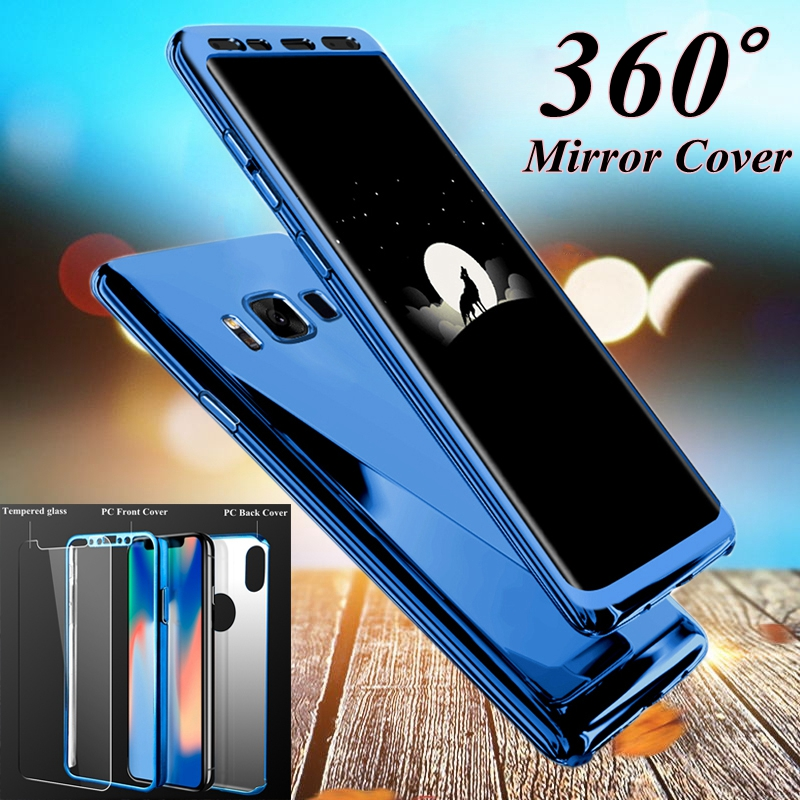 360 Mirror Full Case For Samsung Galaxy s8 s7 s8plus s7edge Luxury Bling Cover For Samsung Galaxy S7 edge S8 Plus Note 8 Cases 360 degrees