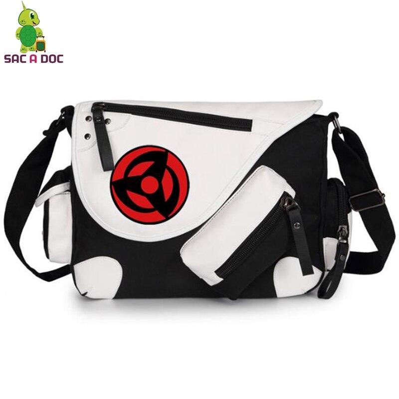 Anime Naruto Sharingan Akatsuki Cosplay Messenger Bags Crossbody Bag Boys Girls School Bags Women Men Casual Travel Bags