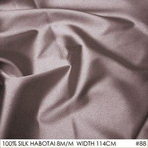 CISULI 100% SILK HABOTAI 114cm width 8momme Pure Silk Jarn Fabrics Batik Painting DIY Patchwork Fabric Pinkish Tan NO 88(China)