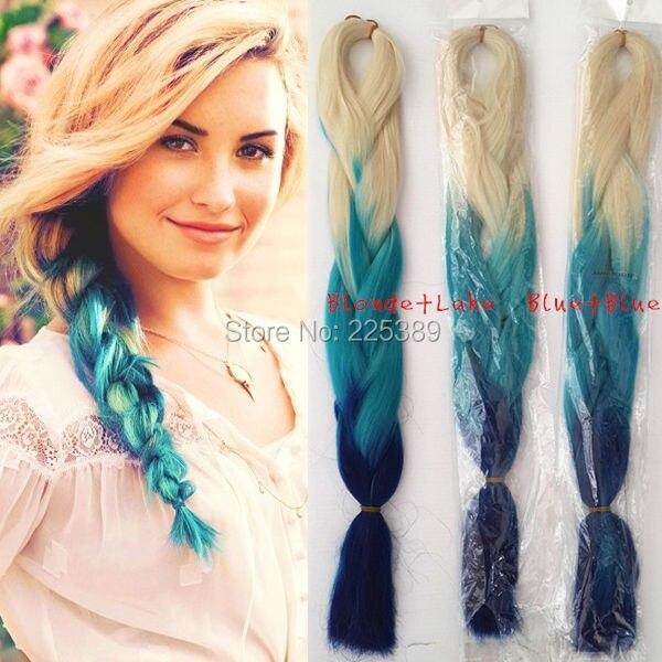 1pcs Soft Jumbo Hair Braid Folded Length Ali Expression Ombre