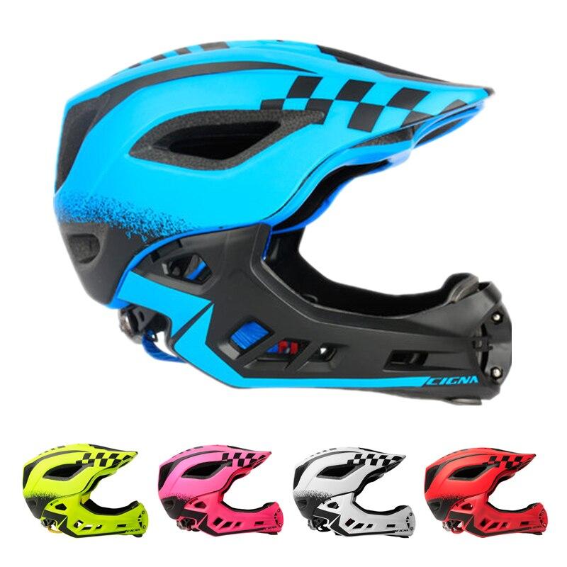 2-10 Ans Complet Couvert Enfant Casque Vélo Équilibre Enfants Plein Visage Casque Vélo Motocross Descente MTV DH sécurité Casque BMX