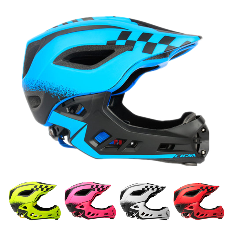 2-10 Year Old Full Covered Kid Helmet Balance Bike Children Full Face Helmet Cycling Motocross Downhill MTV DH Safety Helmet BMX
