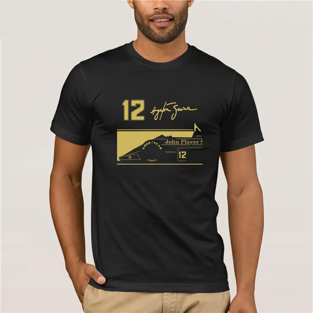 2019 New Fashion Casual Men   T     Shirt   Novelty O-Neck Tops Ayrton Senna Jps Tribute   T  -  Shirt   12 Signature Bulk   T     Shirts