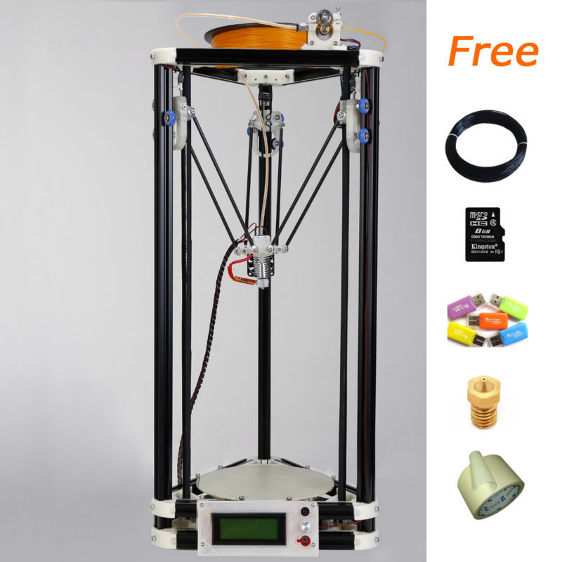 A ABS PLA filaments 3d printer wax with 8GB SD card LCD 40m Filament for Free