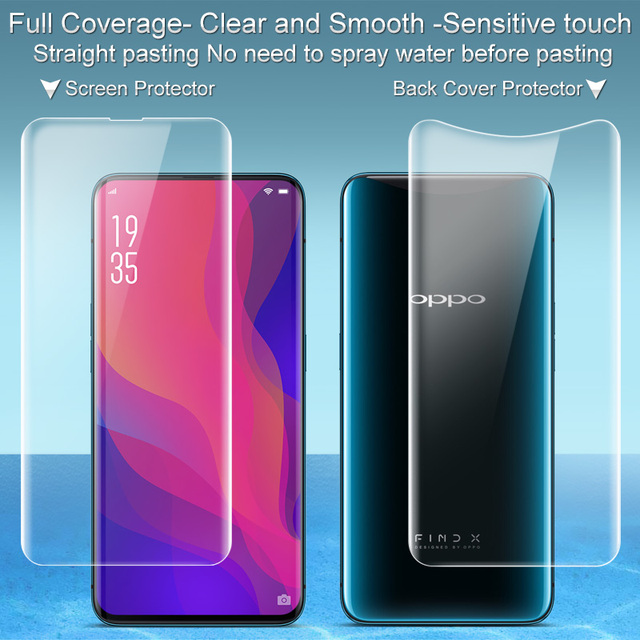 watch d00cc 45161 US $6.63 5% OFF|2PCS Full coverage for OPPO Find X Screen protector and  Back cover protector Imak All Standing Hydrogel Film for OPPO FindX film-in  ...