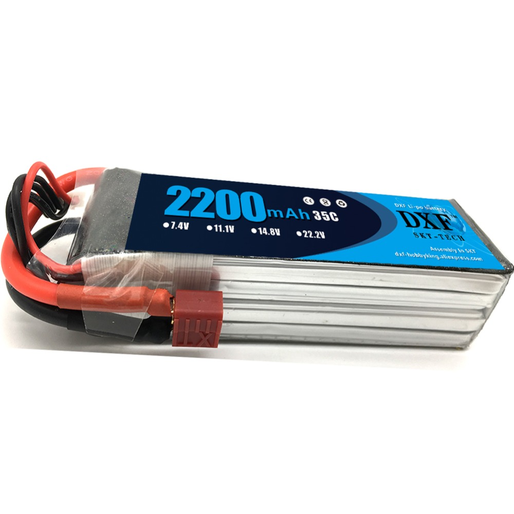 DXF Lipo Bateria <font><b>14.8V</b></font> <font><b>2200mAh</b></font> 35C-70C Lipo Battery 4S for RC Car Helicopter Boat Quadcopter image