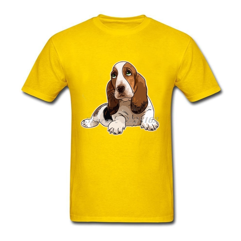US $12 19 47% OFF|Basset Hound T Shirts Men Tops Funny Dog Gift Custom Made  Summer T Shirt for Boyfriends-in T-Shirts from Men's Clothing on