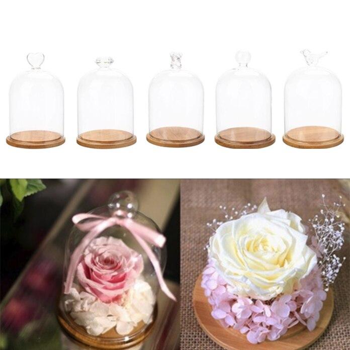 Красочное сердце розовое стекло Крышка для эмulatory цветок Свадьба для свадебных принадлежностей декор с цветами День Святого Валентина орнамент