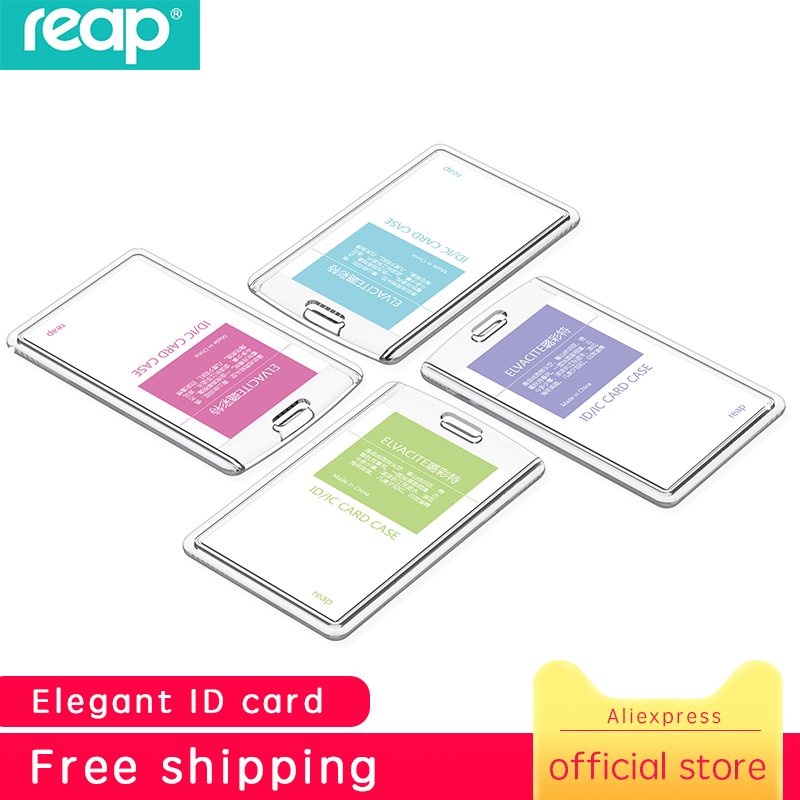 Reap 7175 Acrylic Transparent Card Holders High Quality Badge Holder Crystal Card Bus ID Holders Plastic