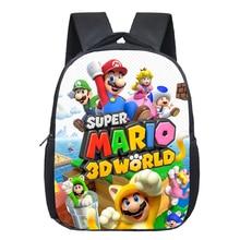13 Inch Cartoon Super Mario Bros Kids Backpack Kindergarten School Bag Children Printing Backpack Girls Boys Mochila