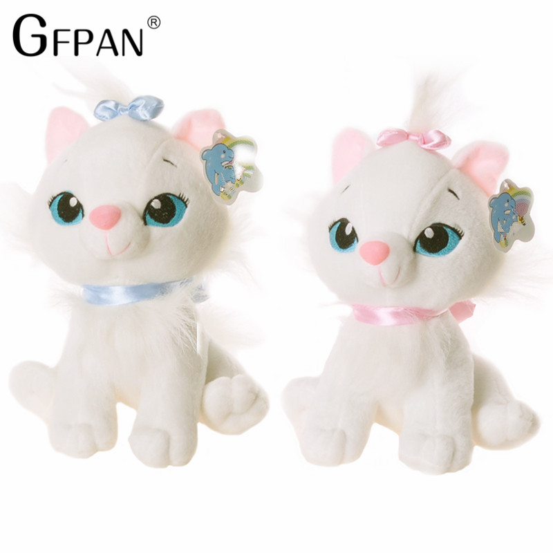 GFPAN New Fashion 18CM Super Kawaii Aristocats Cat Plush Toys Marie Cat Plush Dolls Soft Stuffed Animals Toys For Kids Baby