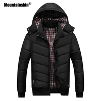 Mountainskin New Winter Men's Coats Casual Parkas Slim Warm Thick Outerwear Hooded Overcoat Male Fashion Thermal Jackets SA547