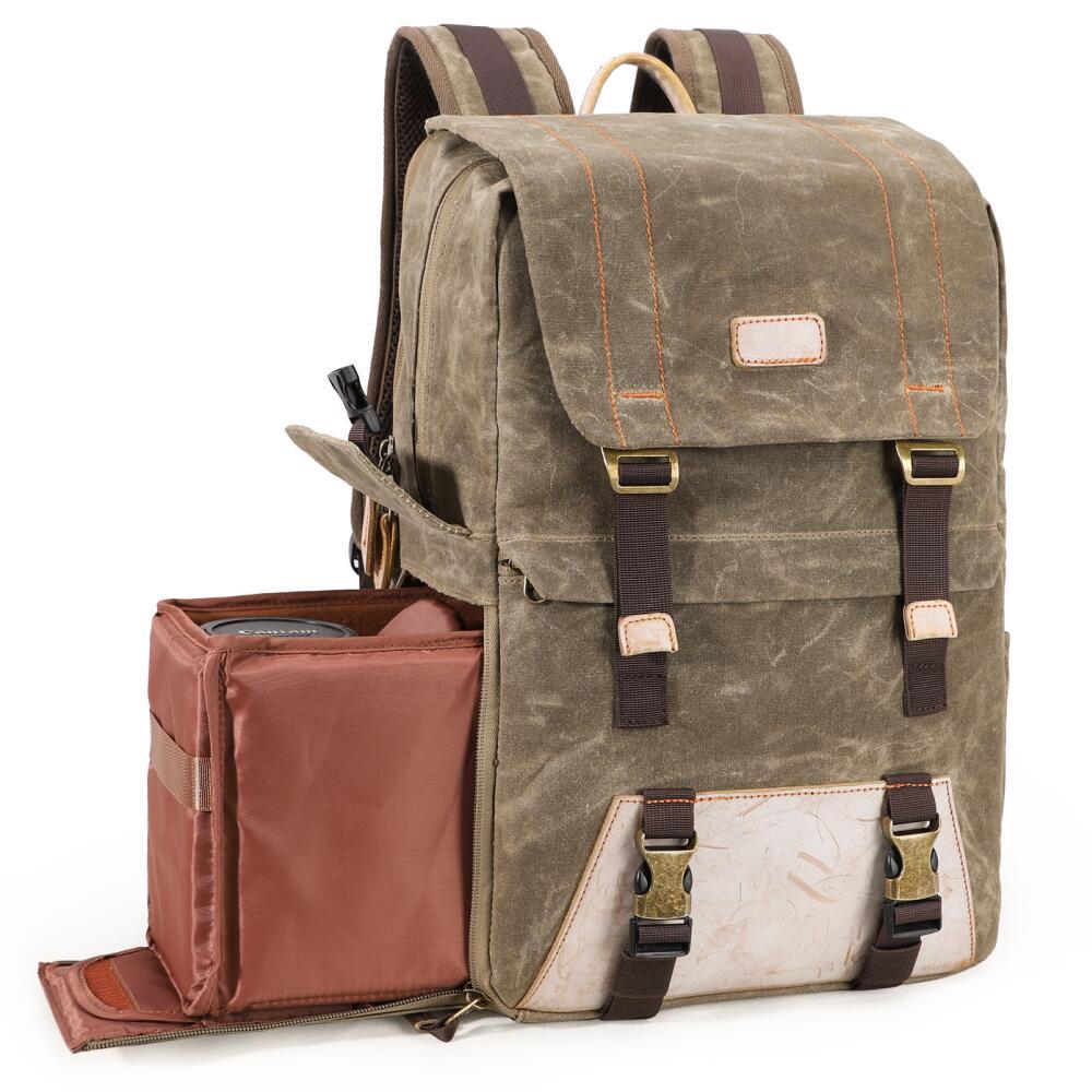 New Arrival Retro Camera Bag Waterproof Canvas Casual Outdoor Travel Backpack Shockproof Digital SLR Lens Case