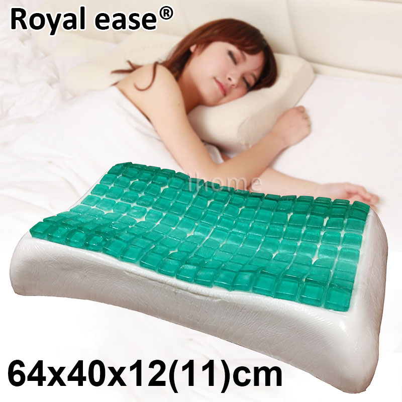 3KGS HIgh Quality GEL Contour Pillow Breathable Fast Rebound Memory Foam Cool Ice Pad Massager Insomnia