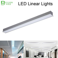 BEYLSION 20W 40W 60W 80W Embedded LED Linear Lights 3000K 4000K 6000K LED Linear lighting led linear chandelier 60 240CM