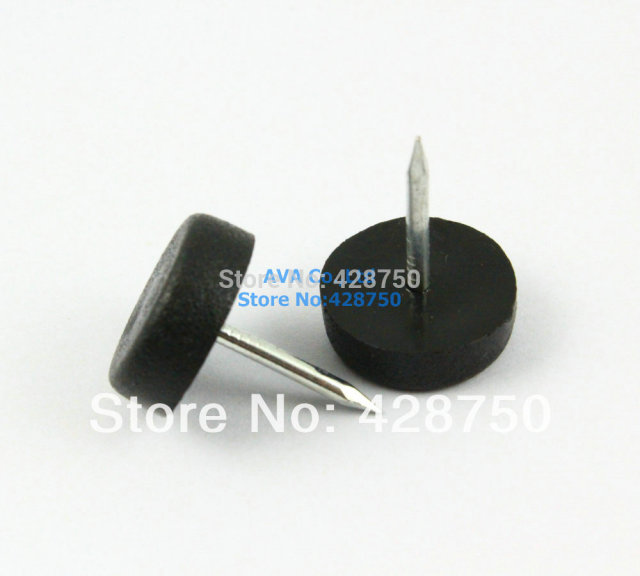 20mm Plastic Furniture Chair Nail Feet Glides Feet Bottom Protect