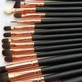 Pro 15 Pcs Maquiagem Cosméticos Escova Foundation Pó Set Sombra Delineador Brushes
