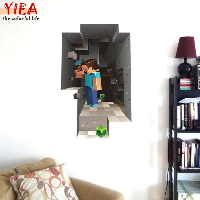 Crianças Dos Desenhos Animados DIY Papel De Parede Para Quartos de Crianças Quarto Sofá Da sala de estar decoração Arte Decalques de Vinil 3D Adesivos de Parede home decor