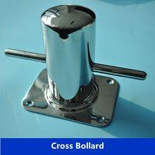 Boat Mooring Cleat Single Cross Bollard 316 Marine Stainless Steel Polished