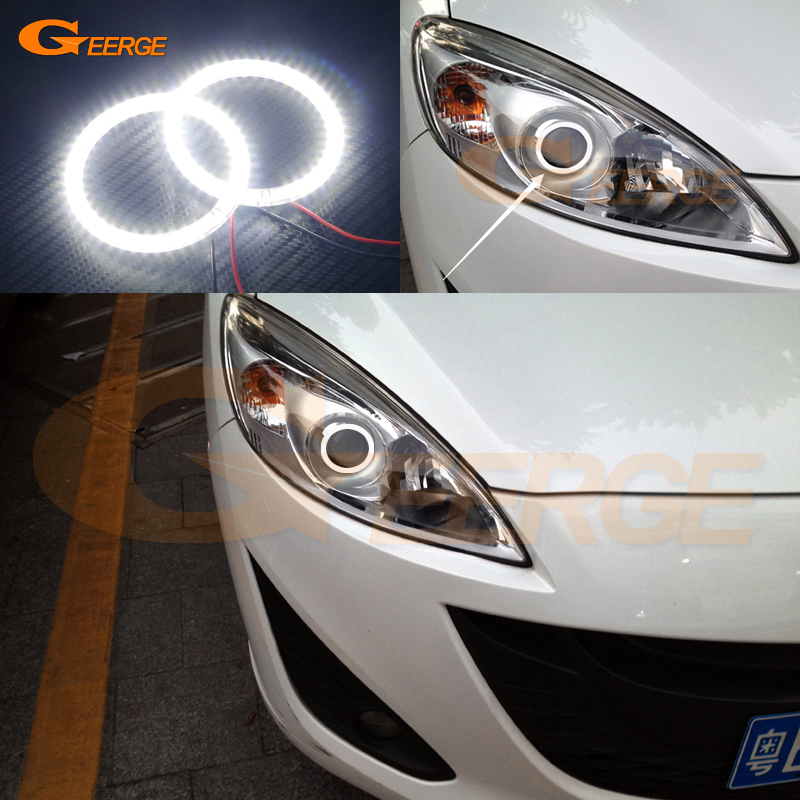 For Mazda 5 Mazda5 2012 2013 2014 2015 Excellent led Angel Eyes Ultra bright illumination smd led Angel Eyes Halo Ring kit bigbang 2012 bigbang live concert alive tour in seoul release date 2013 01 10 kpop