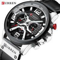 CURREN Uhren Männer Mode Uhr Luxus Marke Sport Armbanduhr Casual Quarzuhr Mann Uhr Wasserdicht 30 M Reloj Hombre