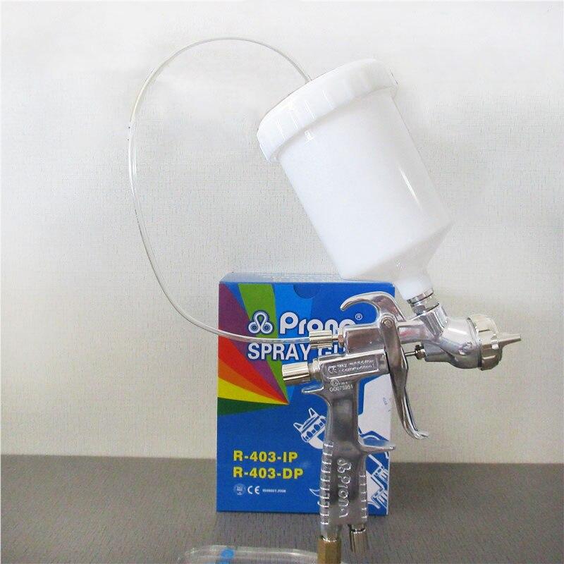 Prona R 403 IP luft spray gun, gravity feed mit kunststoff tasse, luftdruck zu tasse für hohe vicosity malerei materialm, R403 IP - 3