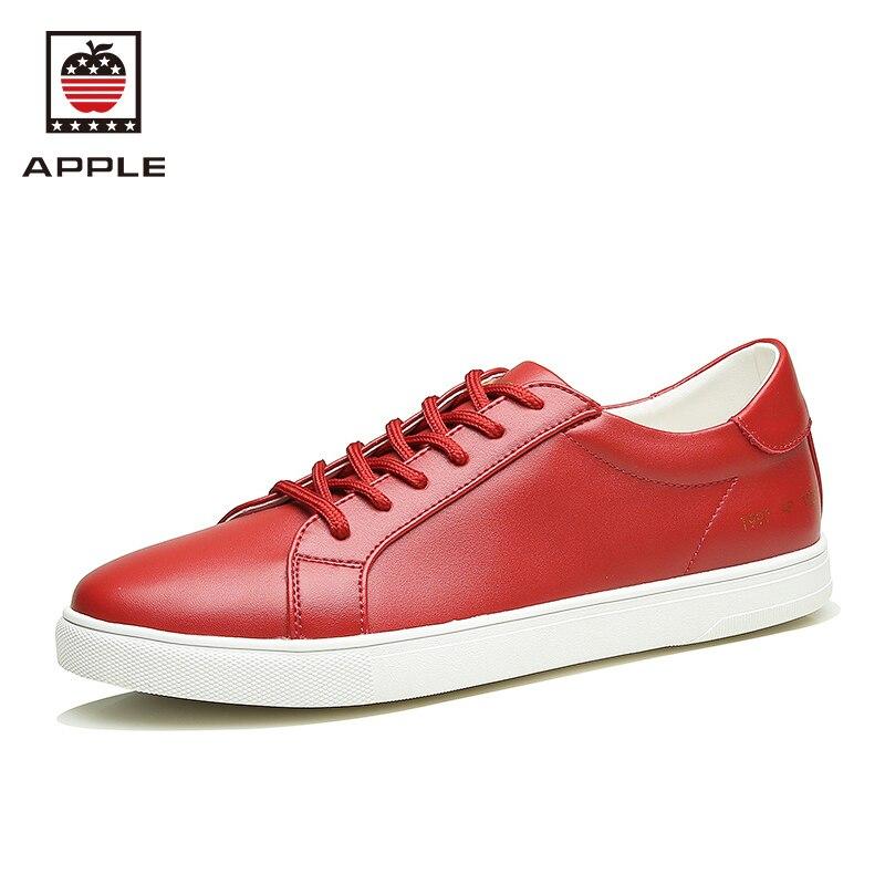 Prix pour Apple Classiques Hommes Sport Skate Chaussures Populaires Étanche Confortable Blanc Noir Rouge Bleu 6 couleur Sneakers pour Hommes AP-1526