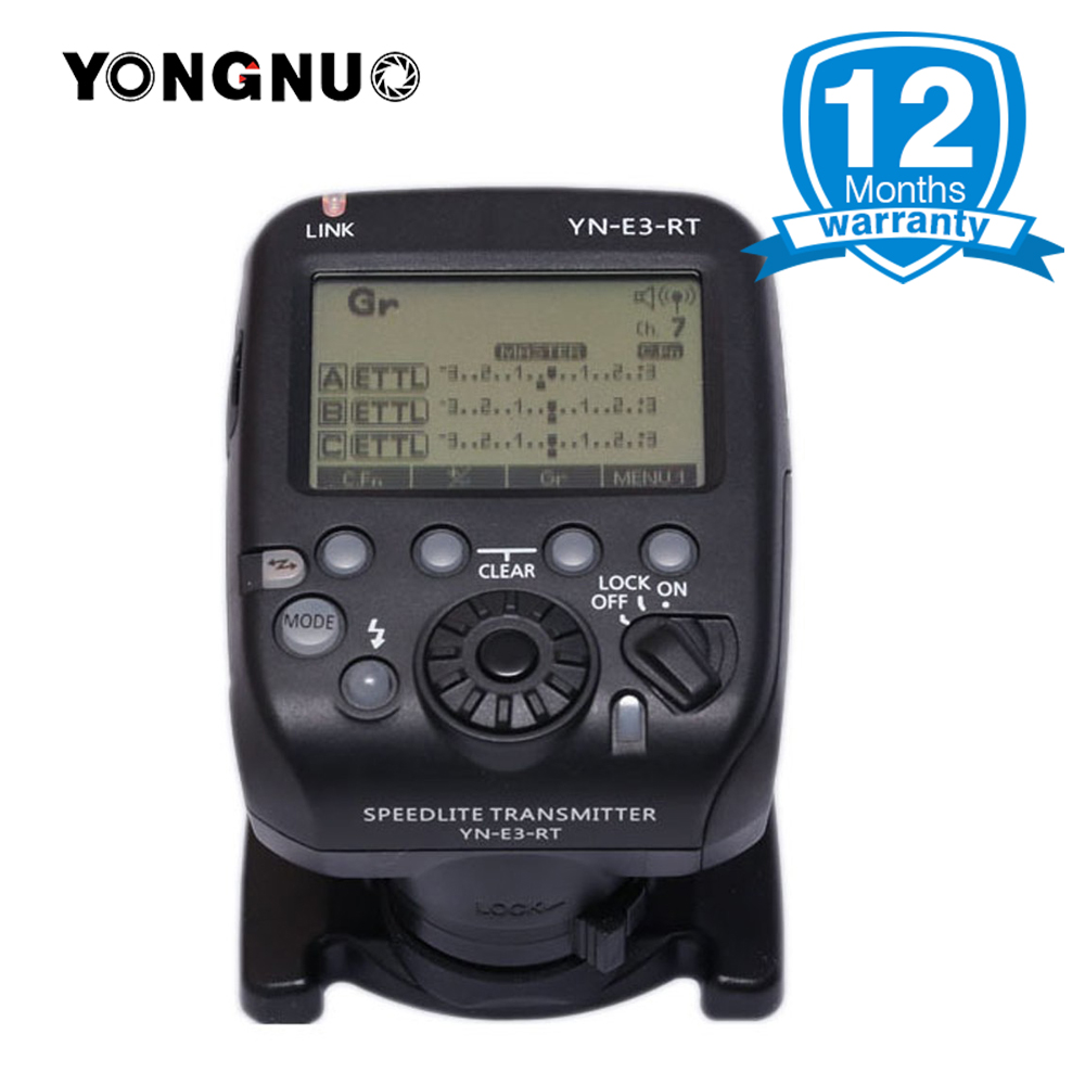 YONGNUO Official YN-E3-RT TTL Flash Radio Trigger Speedlite Transmitter as ST-E3-RT Compatible YONGNUO YN600EX-RT II for Canon yongnuo yn600ex rt ii 2 4g wireless hss 1 8000s master ttl flash speedlite or yn e3 rt controller for canon 5d3 5d2 7d 6d 70d
