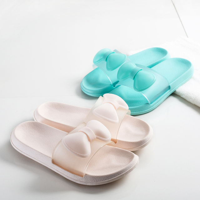 1506a144794b Luxury Jelly Indoor Slippers Fenty Slides Fashion Slides Home Shoes Woman  Designer Platform Wedges Flip Flops Unicornio WC142