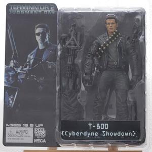 Image 4 - Classic Movie Arnold Schwarzenegger Bambola NECA Terminator 2 T800 Cyberdyne Showdown Modello di Azione del PVC Figure Toy 18 centimetri