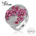 Jewelrypalace pigeon blood red rubí mujeres de compromiso anillo de bodas sólido 925 plata esterlina sólida marca nuevo regalo para las mujeres