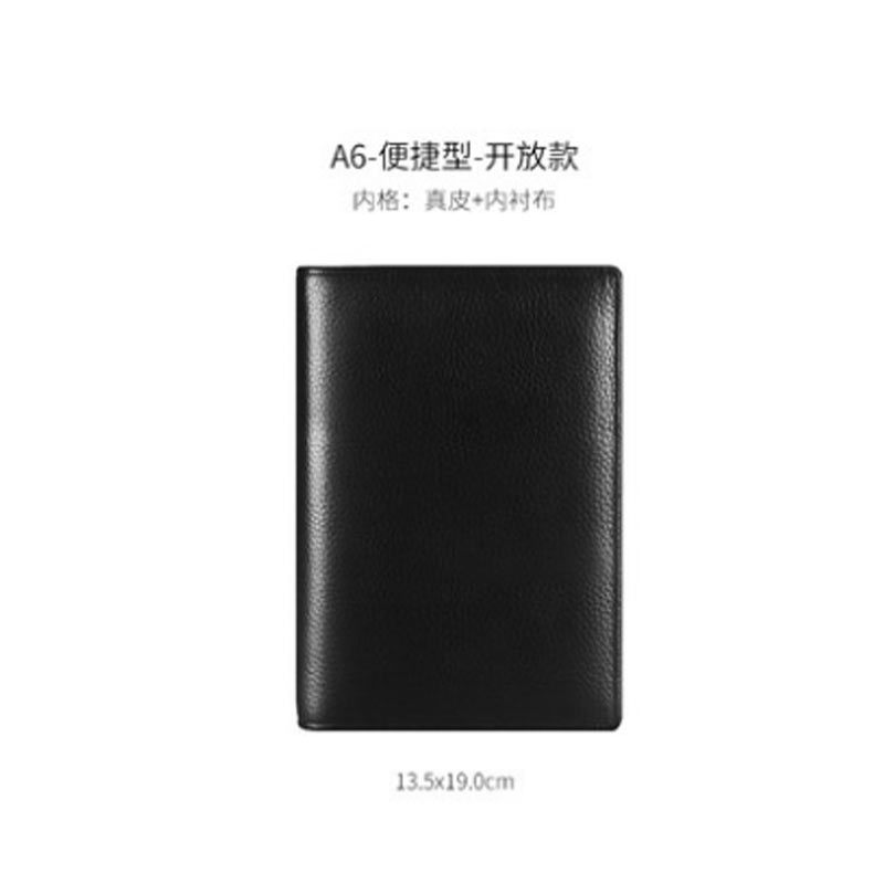 Image 4 - Yiwi  Black A4 B5 A5 A6 A7 100% Genuine Leather Notebook Business Planner  Handmade Agenda Sketchbook Diary Vintage Stationery-in Notebooks from Office & School Supplies