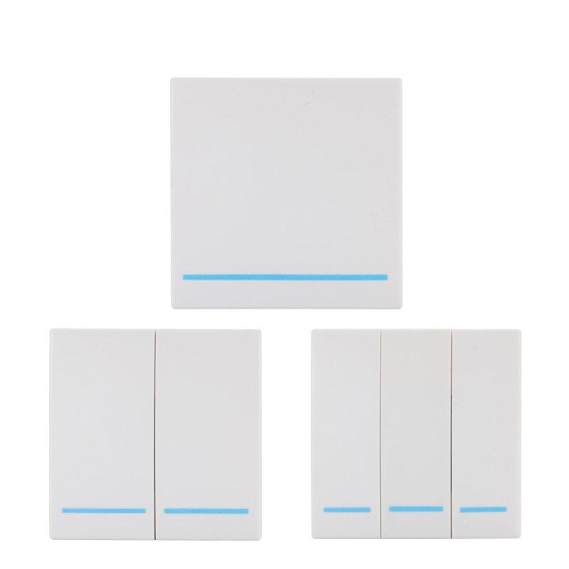 Sans fil 433 MHz universel sans fil télécommande commutateur AC 110 V 220 V 1CH relais récepteur Module et panneau mural RF télécommandes