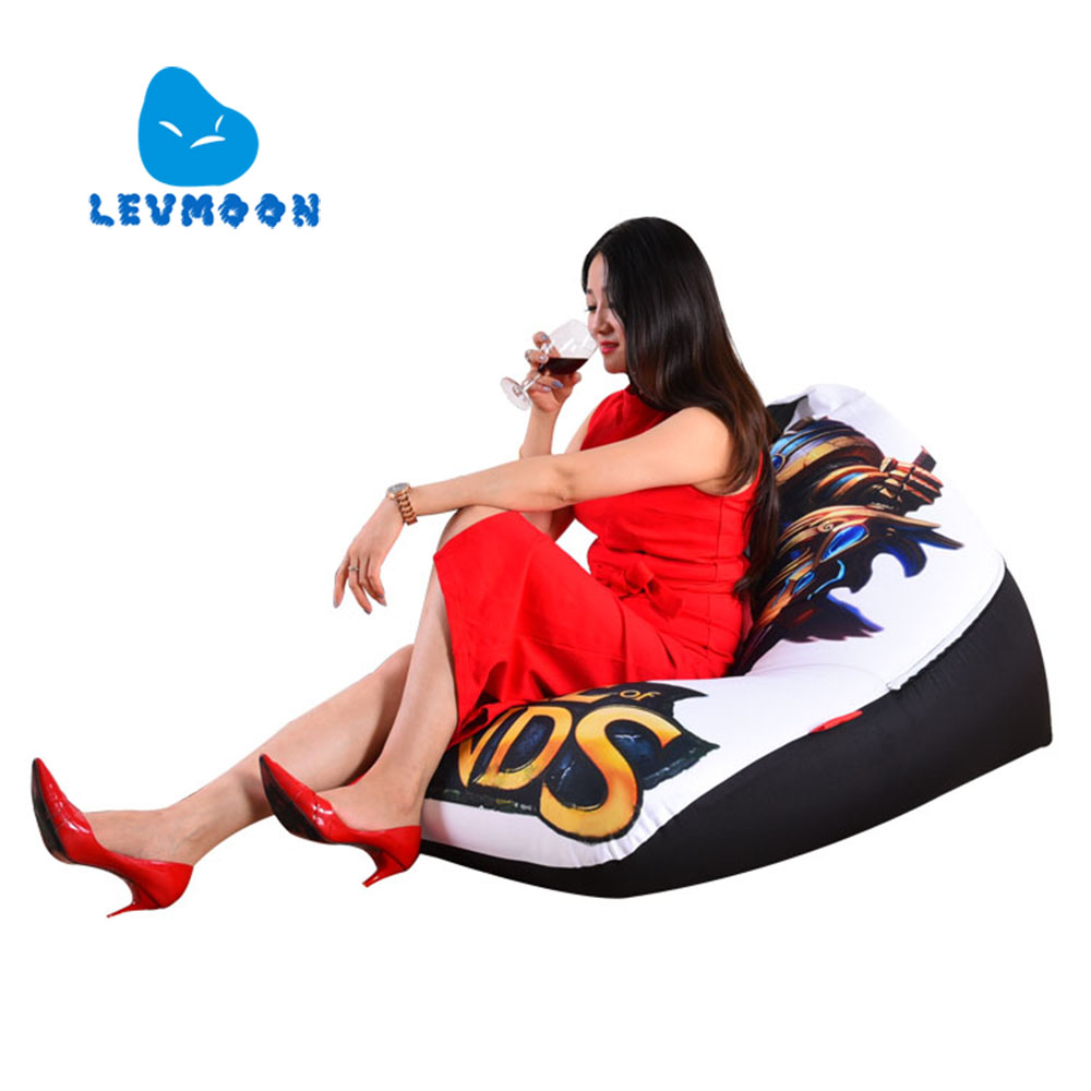 LEVMOON Beanbag Sofa Chair legends Warrior Seat Zac Comfort Bean Bag Bed Cover Without Filler Cotton Indoor Beanbag Lounge Chair