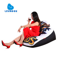 LEVMOON Beanbag Sofa Chair Legends Warrior Seat Zac Comfort Bean Bag Bed Cover Without Filler Cotton